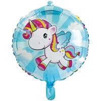 Folieballon eenhoorn: 45 cm