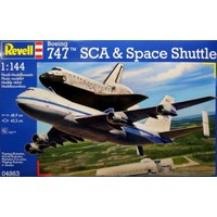 Boeing 747 SCA & Space Shuttle Revell schaal 1:144