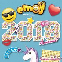 Kalender Emoji 2018: 30x30 cm