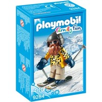 Skiër op snowblades Playmobil