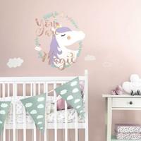 Muursticker RoomMates: Unicorn