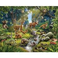 Behang dieren in het bos Walltastic 245x305 cm
