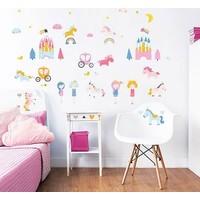 Muursticker unicorn Walltastic: 44 stickers