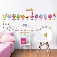 Muursticker Shopkins Walltastic: 56 stickers