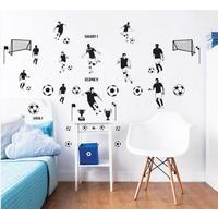 Muursticker voetbal Walltastic: 38 stickers