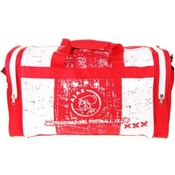 Sporttas ajax rood/wit grunge 50x28x30 cm