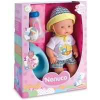 Pop Nenuco met flesje en potje blauw: 30 cm