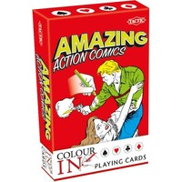 Speelkaarten Colour-In: Amazing Action Comics