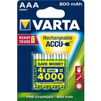 Oplaadbare batterijen Varta Ready to Use AAA: 4 stuks