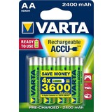 Oplaadbare batterijen Varta Ready to Use AA: 4 stuks