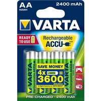 Oplaadbare batterijen Varta Ready to Use AA: 4 stuks