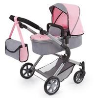 Poppenwagen Bayer Neo Star: grijs/roze