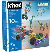 Bouwdoos 10 modellen K`nex: 126 stuks