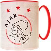Mok plastic ajax wit met rood logo