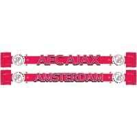 Sjaal ajax wit/rood/wit baan