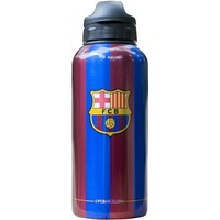 Bidon barcelona blauw/rood aluminium stripes classic: 400 ml