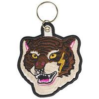 Sleutelhanger Fashionchick tigerhead: 6x6 cm