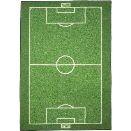Super Vloerkleed Voetbal 95x133 cm - SinQel @UA31