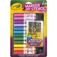 Viltstiften en sjablonen Crayola: roze