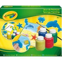 Schilderen met spons Crayola