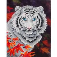 White Tiger in Autumn Diamond Dotz: 46x36 cm