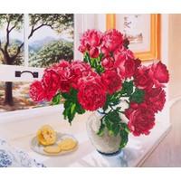 Roses by the Window Diamond Dotz: 57x49 cm