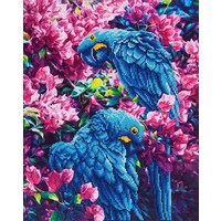 Blue Parrots Diamond Dotz: 52x42 cm