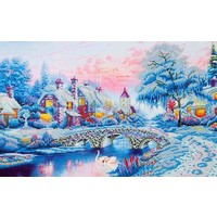 Winter Village Diamond Dotz: 79x50 cm