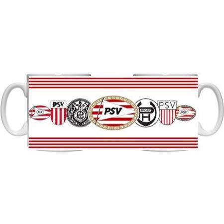 PSV Eindhoven Mok PSV wit logo`s