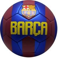 Bal barcelona leer groot rood/blauw logo shiny