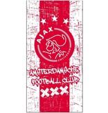 AJAX Amsterdam Handdoek ajax rood/wit grunge