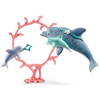 Dolfijn moeder met kleintjes Schleich 41463