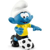 Smurf met voetbal Schleich 20806