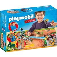 Motorcrossers met plattegrond Playmobil