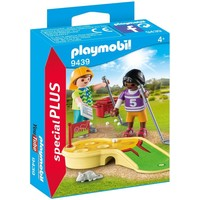 Kinderen met minigolf Playmobil