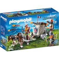 Mobiele ballista met ponys en dwergen Playmobil