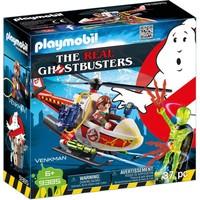Venkman met helikopter Playmobil