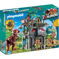Basiskamp van de Explorers met T-Rex Playmobil