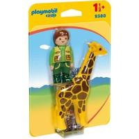 Dierenverzorger met giraf Playmobil