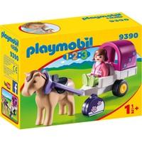 Paard met kar Playmobil