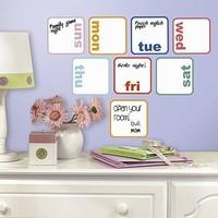Muursticker RoomMates days of the week