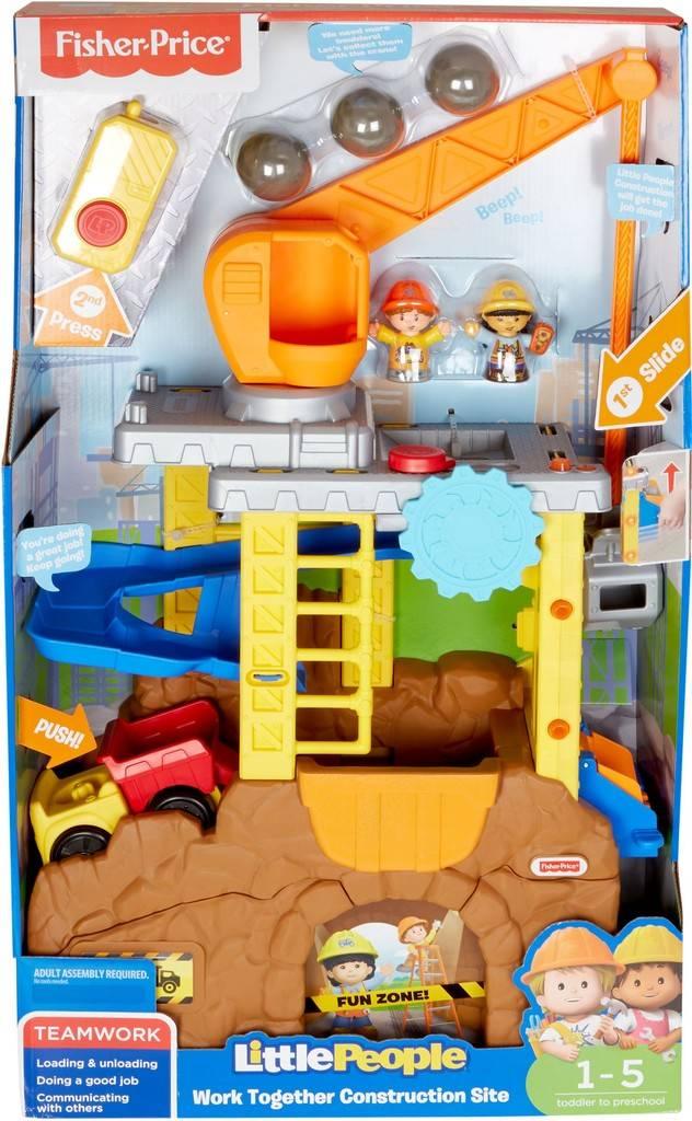 Fisher-Price Little People Samenwerken Bouwplaats - Speelfigurenset