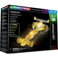 Dragster raceauto Laser Pegs: 6 in 1