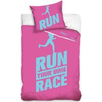 Dekbedovertrek Run roze