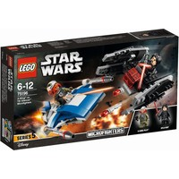 A-wing vs TIE Silencer microfighters Lego