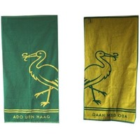 Handdoek ado geel/groen 50x100 cm
