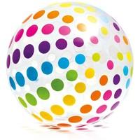 Strandbal opblaasbaar Intex stippen: 107 cm