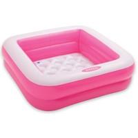 Zwembad opblaasbaar Intex roze: 85x85x23 cm