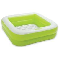 Zwembad opblaasbaar Intex groen: 85x85x23 cm