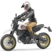 Ducati Scrambler Desert Sled met bestuurder Bruder